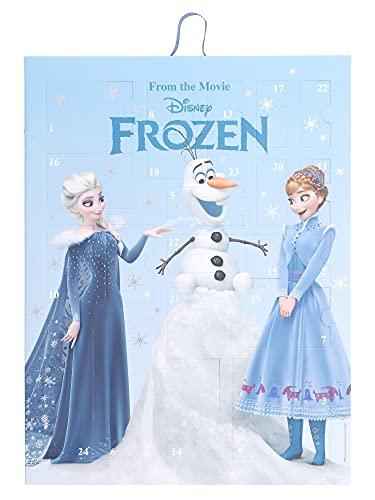 SIX Calendario de Adviento para niños con bonitas joyas y accesorios, calendario para colgar o de pie, con diseño de Elsa, Anna y Olaf (371-057)