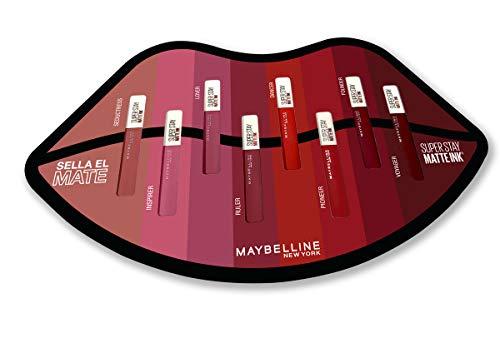 Maybelline New York - Cofre Edición Limitada 8 tonos Superstay Matte Ink, Pintalabios Mate Líquido Larga Duración, Colores Rojos y Rosas, 40 ml