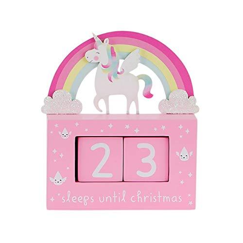 Sass & Belle Calendario de Navidad con diseño de unicornio arcoíris rosa
