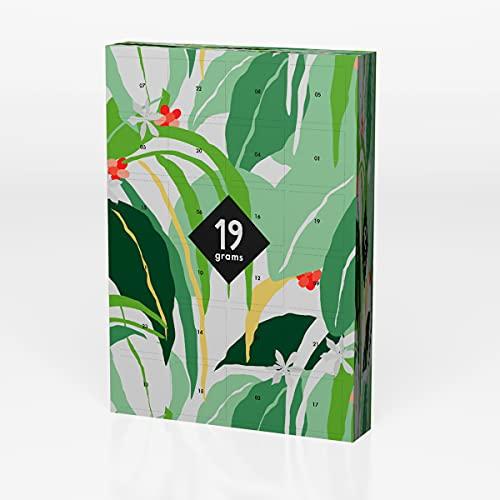 Calendario de Adviento de cápsulas | 24 x 7 g mejores café de origin Single Origin en cápsula sostenible, compostable, compatible con Nespresso System® | 19 gramos de tostado