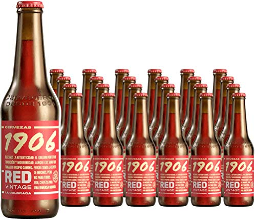 1906 Red Vintage Cerveza - Pack de 24 botellas x 330 ml - Total: 7.92 L