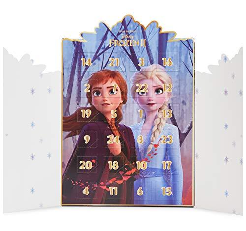 Disney Frozen Calendario Adviento, Calendario de Adviento 2021 de Joyas, Incluye 24 Sorpresas con Anna y Elsa Colgantes Pulsera Collar, Advent Calendar para Niñas