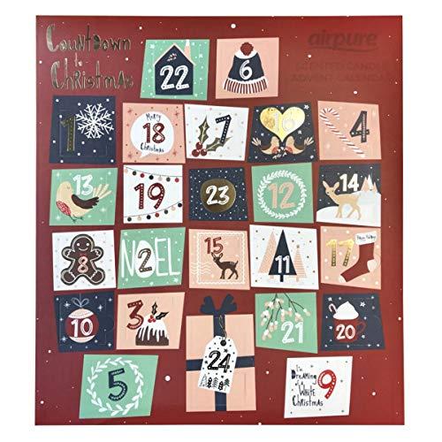 PureAir - Calendario de adviento de Navidad con aroma de vela perfumada 2019
