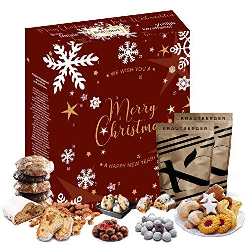 Calendario de Adviento navideño 2020 I Calendario navideño con productos navideños I 24 delicias para la temporada de Adviento Trato caja regalo I Cuenta regresiva para Navidad