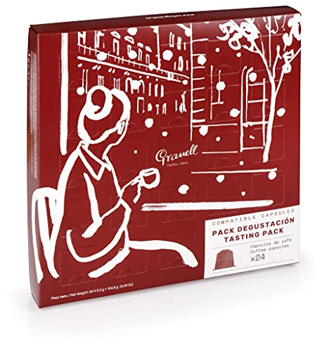 Granell - Calendario de Adviento | Calendario Adviento Café, Degustacion Gourmet Café 11 Variedades - Capsulas Compostables