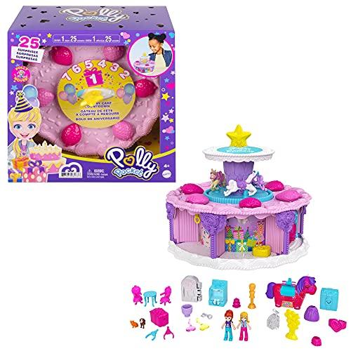 Polly Pocket Calendario de adviento, muñeca con accesorios sorpresa de juguete, óptimo para regalo (Mattel GYW06)