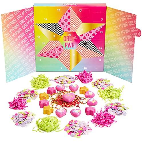 BARBIE Bombas De Baño Para Niñas, Calendario De Adviento Bombas De Baño De Barbie, Set De Regalos Para Niñas