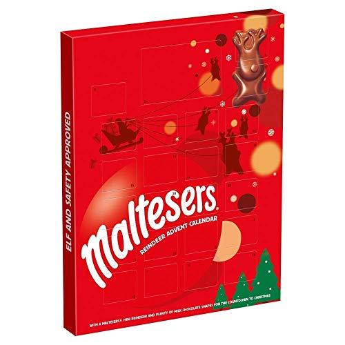 Maltesers - Calendario de Adviento con diseño de renos y chocolate, 108 g