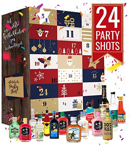 Calendario de Adviento de Schnapps I Calendario de Adviento de Licor I Calendario de Alcohol: un trago corto todos los días antes de Navidad