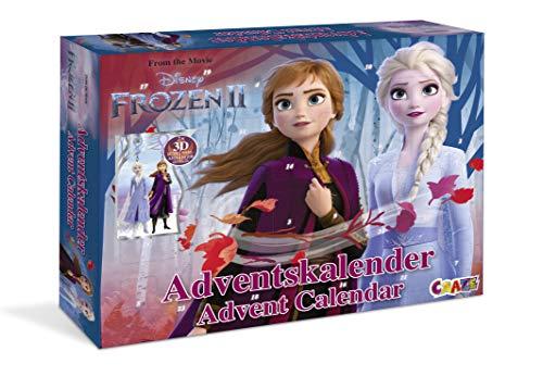 CRAZE Calendario de Adviento FROZEN 2 2019 Calendario de juguete para los niños en Navidad princesa de hielo 19511