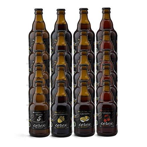 """CEREX- Pack Degustación de 20 Cervezas Artesanas – Cerveza de Castaña, Ibérica de Bellota, Cereza y Pilsen – Mejor Cerveza Artesanal de España Premios """"World Beer Awards 2017"""""""