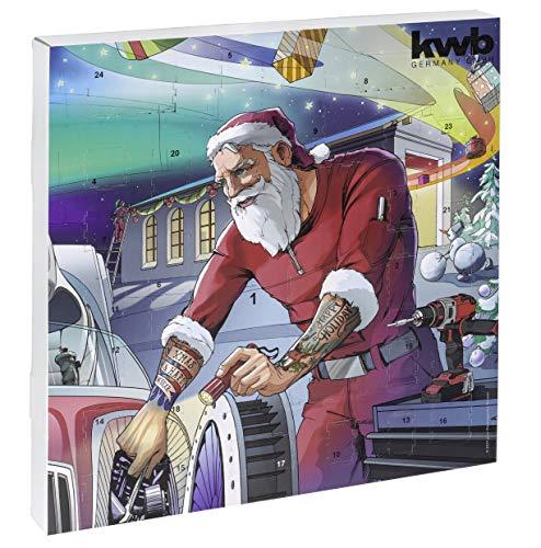 kwb 370139 Adviento edición 2019, el Original Navidad para Hombres, Calendario con Herramientas de Calidad, Incluye Bolsa, gráficos, Grafik