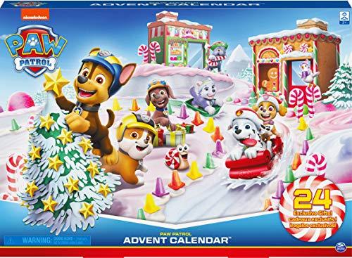 PAW Patrol Calendario de Adviento 2020 con 24 Piezas exclusivas coleccionables, para niños a Partir de 3 años.