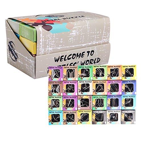 ZUJI 24 Piezas Rompecabezas Metal Calendario Adviento 3D Rompecabezas Puzzles IQ Inteligencia Juguete Educativo Juego para Niños y Adolescentes