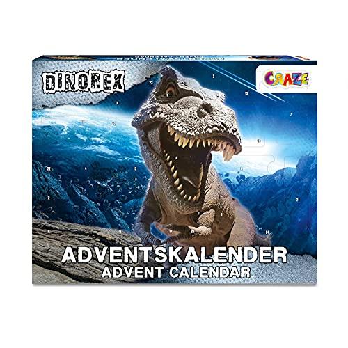 CRAZE Calendario Adviento DINOREX Dinosaurio Calendario de Navidad 2021 para niños Dino Figuras 33401, fantásticos regalos