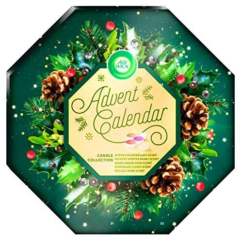 Airwick - Calendario de adviento con velas perfumadas, 24 velas aromáticas con cuenta atrás para la colección de velas navideñas, luces de hadas