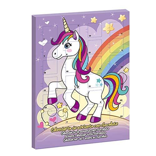 Character Calendario de Adviento de unicornio con chocolate con leche completa para Navidad 2018 (Order Before 27TH of November for Express DELIVERY)