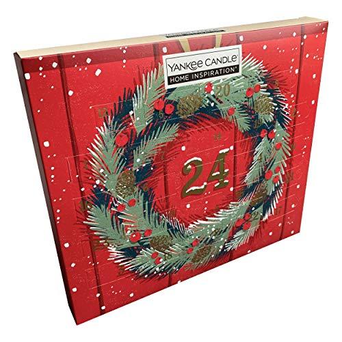 Yankee Candle - Calendario de Adviento con 24 velas de té perfumadas (5 fragancias diferentes de inspiración para el hogar)