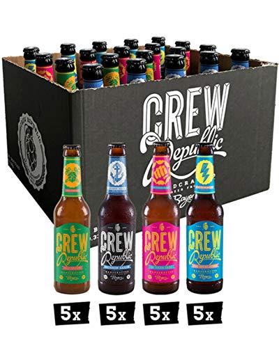 CREW REPUBLIC® Craft Beer IPA Mix | Set de degustación | Ganador de The World Beer Awards 2020 | Regalo ideal para hombres | Elaborada en Baviera según la ley de pureza de Alemania (20 x 0,33I)