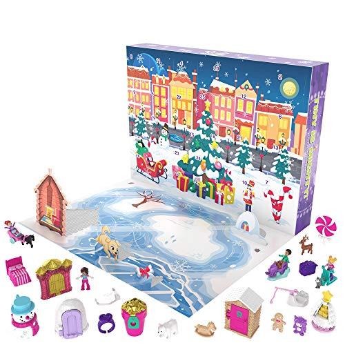 Polly Pocket Calendario de Adviento Invernal con 25 minisorpresas (Mattel GKL46)