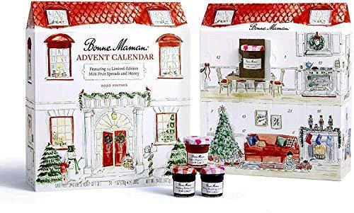 Bonne Maman Tarros de calendario de Adviento para regalo de Navidad, 30 g, paquete de 23