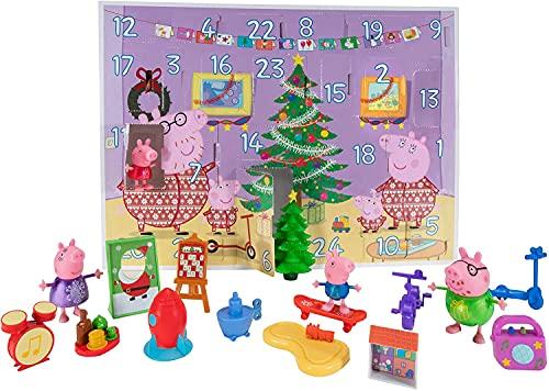 Peppa Pig PEP0658 Calendario de Adviento 2021 con Figuras de Peppa Pig y Accesorios para niños a Partir de 2 años