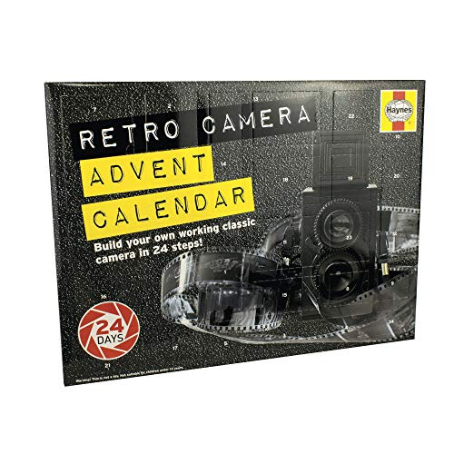 Eight Innovation TLAC018 Haynes - Calendario de adviento con cámara Retro, Color Negro