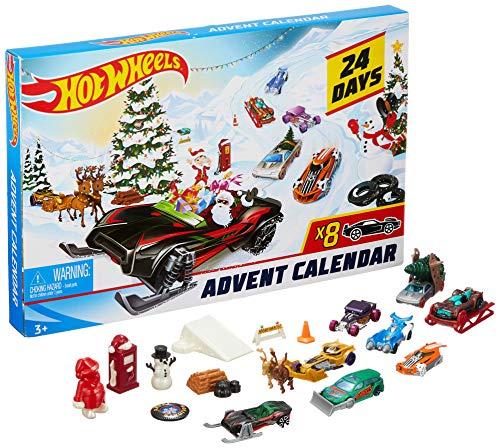 Hot Wheels - Calendario de Adviento con Coches de Juguete y Accesorios Sorpresa (Mattel FYN46)
