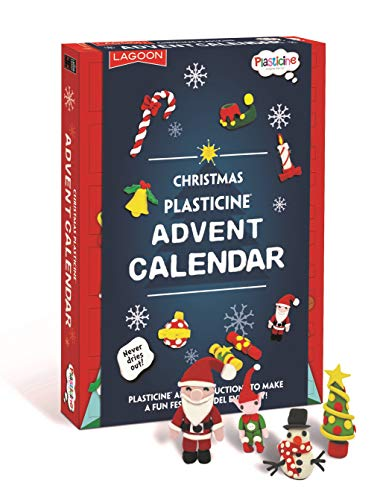 Lagoon Group- Plasticine Christmas Advent Calendar Plastilina, Juguete, Color Mixto (6769)
