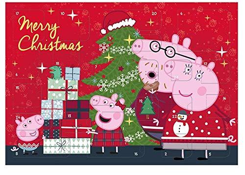 Undercover PIGPW8023 Calendario de Adviento para niños con 24 artículos de papelería, sorpresas, diseño de Peppa Pig, Aprox. 45 x 32 x 3 cm, Multicolor
