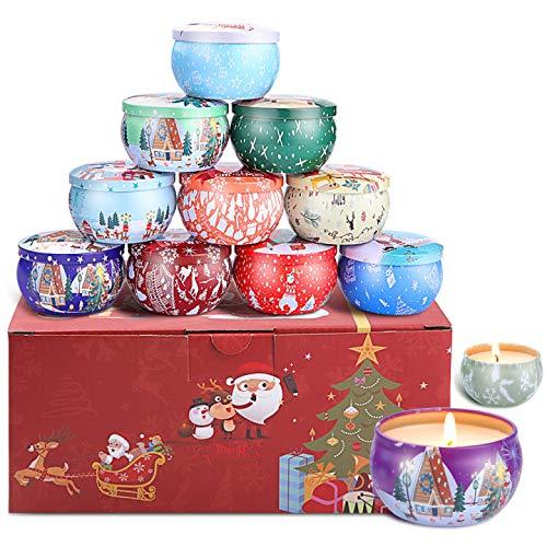 DaiWeier 12 Piezas Velas perfumada,Navidad Velas Aromaticas,Cumpleaños Navidad Día de San Valentín Regalos,Regalos para Mujer