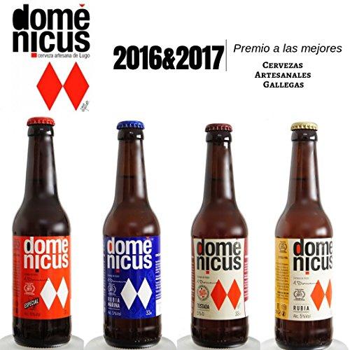 Pack de cervezas Artesanas de Autor Degustación 8x33cl - 2x Domenicus Marina, 2x Domenicus Especial, 2x Domenicus Tostada, 2x Domenicus Rubia
