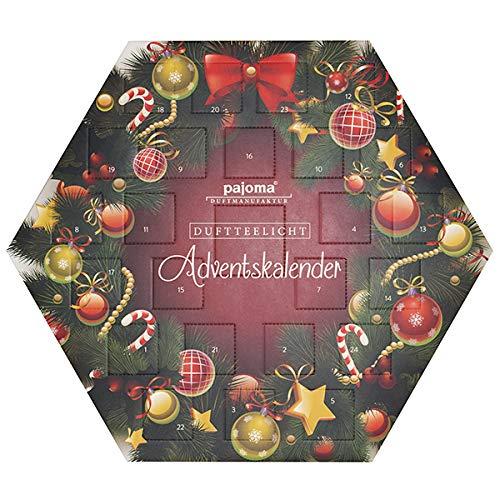 pajoma Velas de Adviento hexagonales, 32 x 37 x 3,8 cm