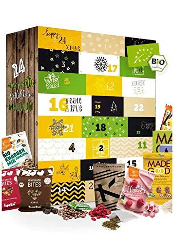 Calendario de Adviento Gourmet I Calendario de Navidad con 24 exclusivos artículos delicatessen I Inusual, delicioso set de regalo para adultos