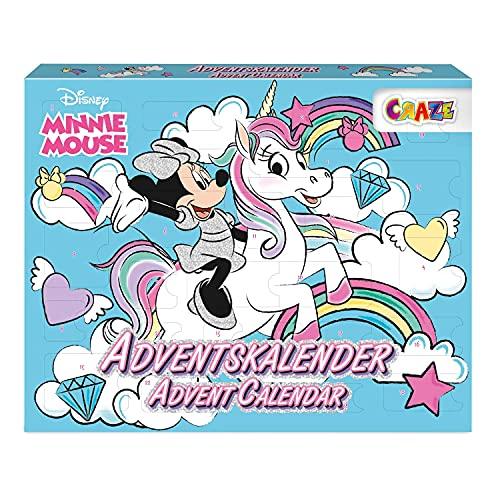 CRAZE Calendario Adviento MINNIE MOUSE Navidad 2021, calendario de juguetes para niñas y niños con contenido creativo y grandes sorpresas 24669