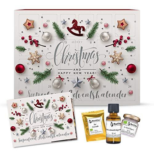 MeaVita Calendario de Adviento Superfoods, Calendario de Navidad con 24 sorpresas