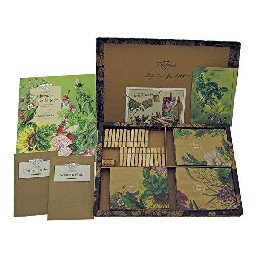 Calendario de Adviento de semillas orgánicas 2020- Rarezas vegetales con historia- con 24 sobres de semillas en un hermoso diseño