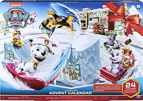 PAW PATROL - 6052489, Calendario de Adviento 2019 con 24 Figuras coleccionables, para niños a Partir de 3 años