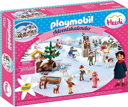 PLAYMOBIL Calendario de Adviento 70260 El Mundo de Invierno de Heidi, Para Niños a Partir de 4 Años de Edad