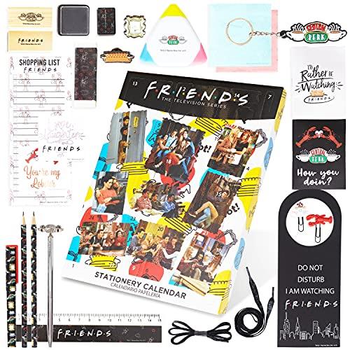 Friends Merchandising Calendario Adviento 2021, Calendario Adviento Papeleria para Mujer, Adolescentes y Niñas con 24 Accesorios