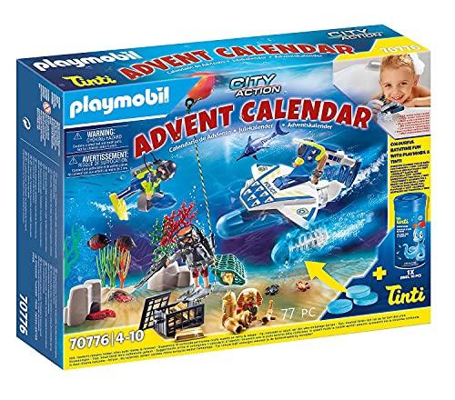 PLAYMOBIL City Action Calendario de Adviento Misión policial de buceo diversión en el, A partir de 4 años (70776)