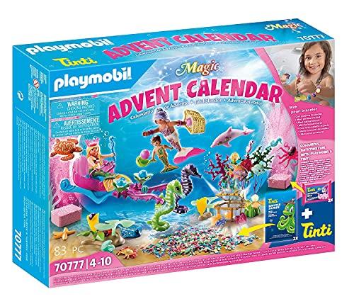 PLAYMOBIL Magic Calendario de Adviento Sirenas diversión en el baño, A partir de 4 años (70777)