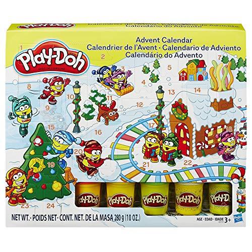 Play-Doh Juego de plastilina de la Marca B21999, Modelo Calendario de adviento. Incluye 5 Tubos de Color