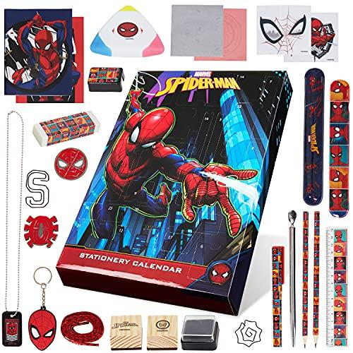 Marvel Calendario Adviento 2021 de Spiderman, Calendario Adviento para Niños, 24 Sorpresas de PapelerÍa Niños