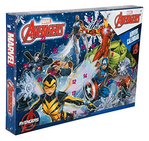 Sambro AVE-6722 - Calendario de Adviento de los Vengadores de Marvel con papelería, juguetes pequeños y pegatinas, para niños a partir de 3 años, multicolor , color/modelo surtido