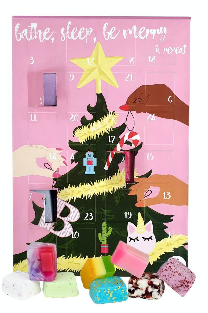 Bathe Sleep Be Merry Repeat calendario adviento bomb cosmetics 2021