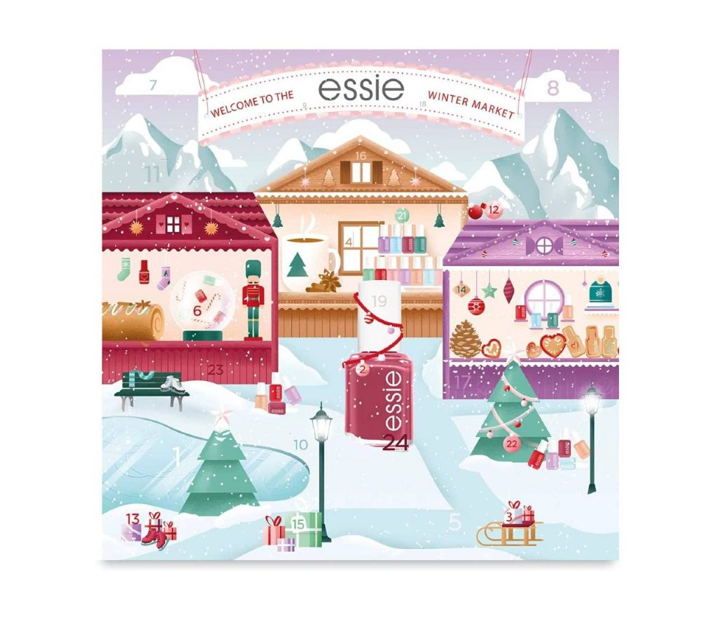 Calendario de Adviento Essie 2021 uñas