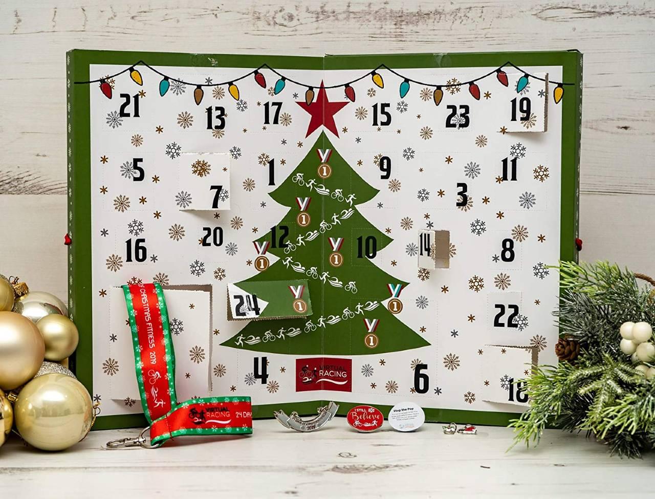 Calendario de Adviento de Navidad 24 Días de Fitness