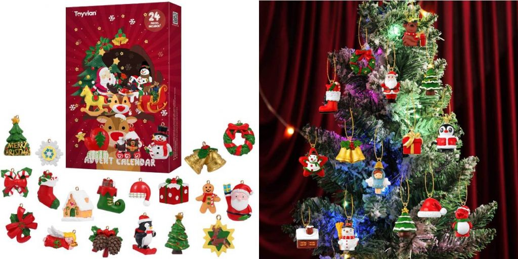 Calendarios de Adviento con adornos para el árbol