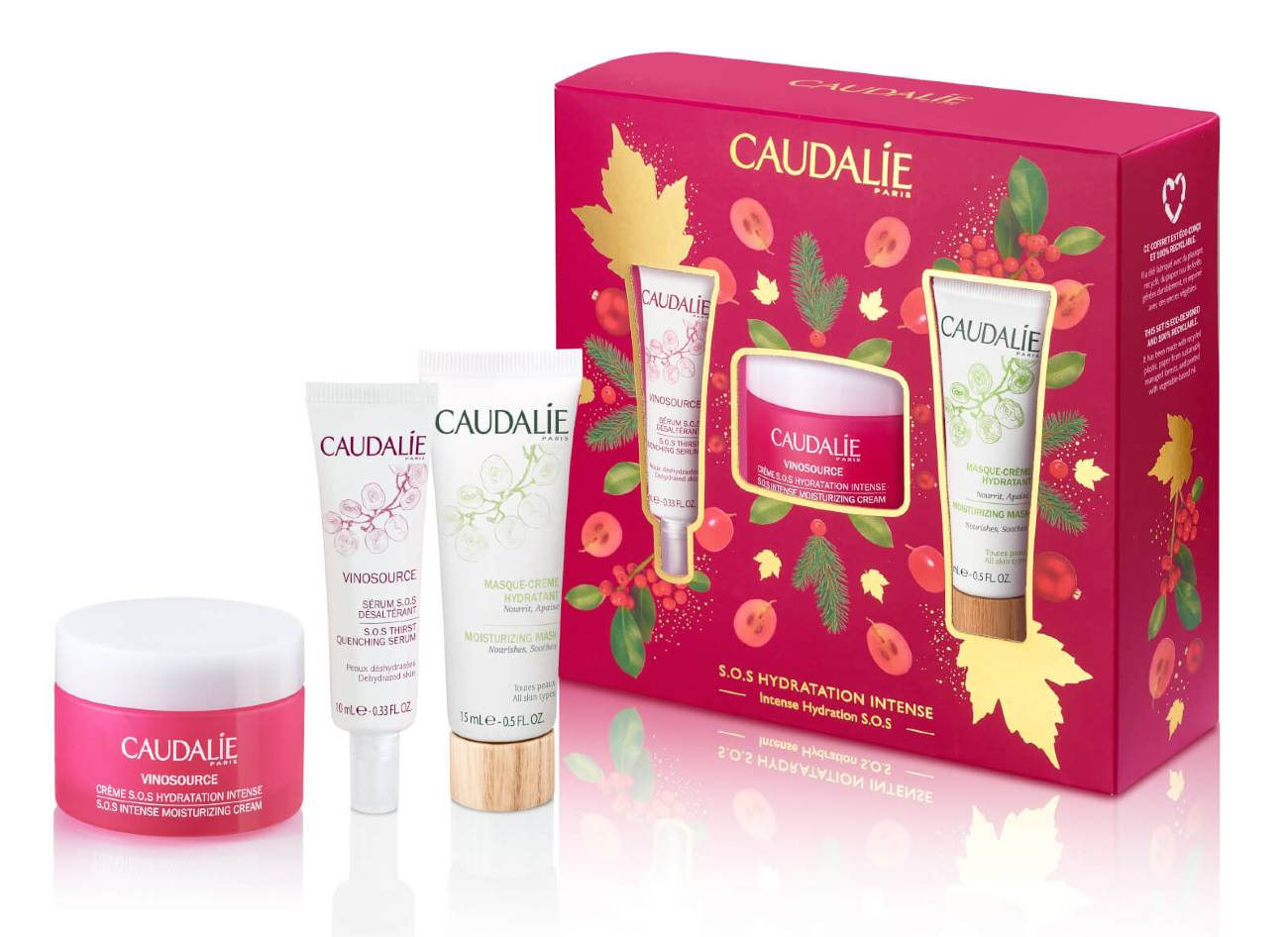 Caudalie Vinosource SOS Cream Christmas Set Intense Hydration SOS